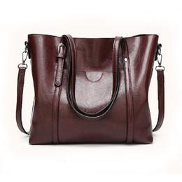 Wholesale Waxed Nylon - 2017 summer new shoulder bag women Europe and the United States fashion female package oil wax skin women handbag BH1410