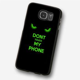 Iphone 5c t en Ligne-Les yeux verts ne touchent pas le cas de téléphone pour iPhone 5c 5s 6s 6plus 6splus 7 7plus Samsung Galaxy S5 S6 S6ep S7ep