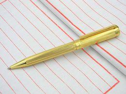 Wholesale Trimming Wood - new golden Wave pattern Stripe Trim Metal Ballpoint Pen
