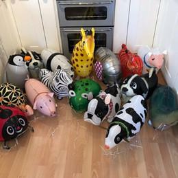 2019 животное тигр Mixes Walking Animal HELIUM Воздушные шары Cute Cat Dog Panda Динозавр Tiger pet air Ballons Декорации для вечеринок по случаю дня рождения для детей и взрослых дешево животное тигр