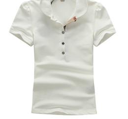 Camisas de las mujeres calientes Moda Casual Manga Cinco Botones Camisa Para Las Mujeres Blusa de algodón Polos blanco T Mujer Ropa camiseta desde fabricantes