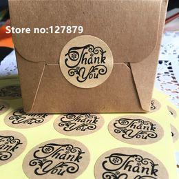600pcs 3.5cm vente chaude merci cercle emballage de gâteau à la main étiquette de sceau autocollant kraft cuisson bricolage cadeau autocollants ronds ? partir de fabricateur