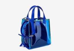 4cb99d34c08a Fashion Casual Style Woman Hand Bag Lucency Composite Cute Flap Hand Bag  Blue Pink Ladies New B