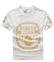 Wholesale united designers - New Fashion United States tide brand Robin jeans polo shirt mens t shirts men's short sleeve designer hip hop clothing Tshirts for men