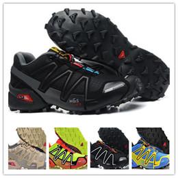 Wholesale waterproof walking shoes men - New 2018 New Zapatillas Speedcross 3 4 Running Shoes Men Walking Outdoor Sport shoes Speed cross Athletic Sneakers Hiking Shoes Size 40-46