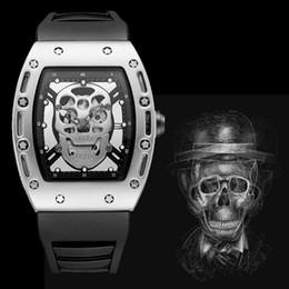 Wholesale hollow skeleton - relogio masculino big watches men top luxury brand military sport silver skeleton designer large mens watch hollow stainless steel clock