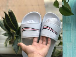Wholesale slippers cheap flat - Luxury Designers Slipper New flip flops Brand Slipper Top Quality New Slippers Wholesale Cheap Outdoor Sandals Hot Sale