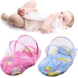2018 Kinderbett Matratzen 1 Stück Baby Krippe Netting Bett Krippe Falten  Moskitonetz Infant Kissen Matratze Kissen