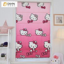 Wholesale Print Blackout Curtains - Pink Cartoon Printing Blackout Curtains For Living Room Roman Blinds Customized Size Roller Blind Free Shipping