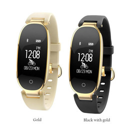 Wholesale Heart Monitors For Women - S3 Bluetooth Waterproof Lady Smart Watch Fashion Women Ladies Heart Rate Monitor Fitness Tracker Smart watch for Android IOS