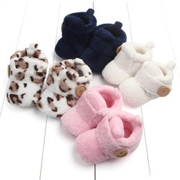 First Walkers Baby Shoes Warm Newborn Unisex Baby Boy Girls Infant Cute Bear Crib Warm Shoes Fleece Newbron Baby Shoes Winter Warm Prewalker One Size
