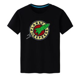hombres expresos cortos Rebajas 2018 Nueva marca de moda para hombre Camisetas Planet Express Impreso Camisas de manga corta 100% algodón Hombres Ropa Tops Envío gratis