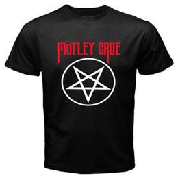 Heavy metal t shirt nouveau en Ligne-Vente chaude De Mode New Motley Crue Pentagram Heavy Metal Band Hommes Noir Anime T-Shirt Taille S-3XL Vente Chaude Casual Vêtements