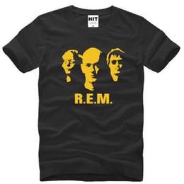 2019 cortos de la banda de rock Nuevo diseño Pop Rock Band R.E.M. Camisetas impresas Hombres Algodón de verano O-cuello de manga corta Camiseta de hombre Punk Rock Mens Top Tees rebajas cortos de la banda de rock