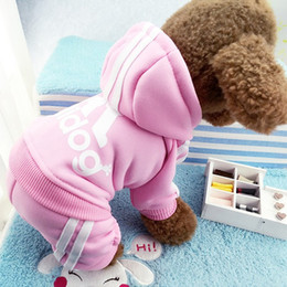 Wholesale warm sweaters for dogs - Winter Warm Pet Dog Clothes Four-legs Hoodie Small Dogs Sweaters for Puppy Coat Pet Clothing XS-XXL