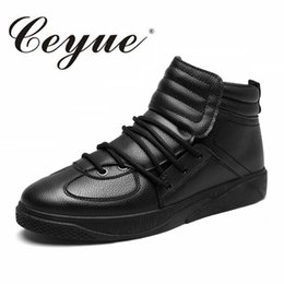 Wholesale manual sewing - Ceyue Brand Men Boots Fahion PU Leather Ankle Boots Design Manual Lace-Up Cheap Walking Casual Men Autumn Winter Shoes