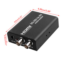 Scaler-konverter online-OOTDTY HD 3G SDI auf Composite-Cinch-Video + L / R Analog Stereo Audio Converter Scaler SD
