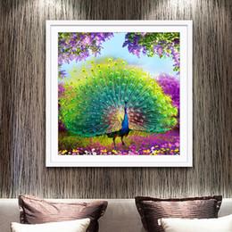 Photos de paon broderie en Ligne-Lan Diamonds Image Nouveau Motif Cube Magique Pleine Perceuse Croix Broderie Peacock Stroll Diamants Embroidery Generation Hair