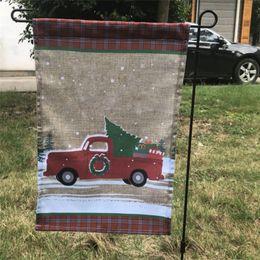 40 * 30 cm Bandiera del Giardino di Natale Babbo Natale stampato banner Home Outdoor Decorazione fai da te Polieter luminoso Hanging Garden Flags Festival Ornament da