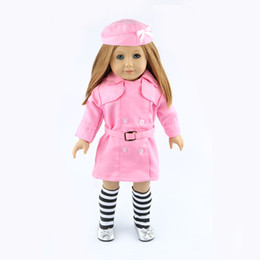 Wholesale Girls Western Style Dresses - 18-inch American girl dolls clothes manually white wedding dresses children Christmas gift free shipping W04