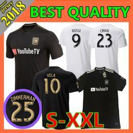 df0368d0c Size S-XXL 2018 LAFC Carlos Vela Soccer Jerseys 2018 2019 MLS Angeles GABER  ROSSI CIMAN ZIMMERMAN FC black Football Shirts
