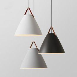 luzes de tira led comercial Desconto Modern Luzes Pingente De Ferro Estilo Nórdico luzes penduradas para Cozinha Sala de estar Sala de Jantar luminária pendular luminária suspensão