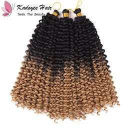 Wholesale Indian Jerry Curl Weave - Synthetic fiber Jerry Curl Crochet Hair Braid Indian Hair Weave extensions for black women 14inch kinky curly natural ombre african curl