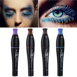 Wholesale Full Stage - Colored Mascara Waterproof Lengthening Thick Curly Mascara Makeup Cosplay Stage Theater Colorful No Blooming Pro Makeup For Eye