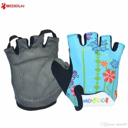 Wholesale Boys Mittens Black - Boys Girls Cycling Gloves Half Finger Children Summer Bicycle Gloves Guantes Ciclismo MTB Mountain Sports Bike Gloves Mittens Cartoon Color