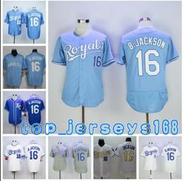 8 16 Bo Jackson Jersey Men Women Auburn Oakland Jerseys Flexbase Cool Base  Home Away Baby Blue Grey White Baseball Sport Shirts 1f558c76b