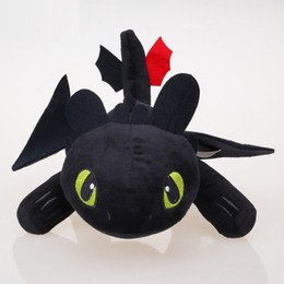 """Wholesale Toothless Dragon Soft Toy - 13"""" 33cm Anime Cartoon How to Train Your Dragon Toothless Night Fury Plush Toy Soft Stuffed Animal Doll"""