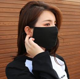 2019 riscaldatori dell'orecchio di ciclismo Donna Colore neroWinter Cotton Face Mouth Mask per ragazze ragazzi studenti riutilizzabile Anti-Polvere Outdoor Cycling Warm Mask