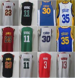 874108bf1 Recién llegado 35 Kevin Durant Jersey 30 Stephen Curry LeBron 23 JAMES ¡De  calidad superior! Camiseta de baloncesto SWINGMAN retro de Kyrie Irving con  2 ...