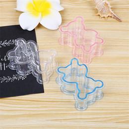 2019 regali battesimi ragazze Scatola di caramelle di plastica trasparente per orsacchiotti Baby Souvenir di acquasantiera per bimba battesimo Battesimo battesimo battesimo e regali ZA6459 regali battesimi ragazze economici