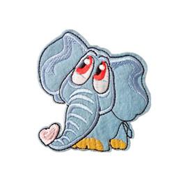 Canada Patch en tissu brodé éléphant 7,3 cm * 8 cm appliques Retour gomme de repassage couture patch enfants T-shirt jeans vêtements accessoires Offre