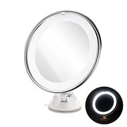 Hot 7X Loupe Miroir De Maquillage Cosmétique LED Verrouillage Ventouse Lumière Diffuse Lumière 360 Degrés Rotation Maquillage Cosmétique Miroirs ? partir de fabricateur