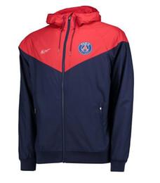 Wholesale club sportswear - PSG Coat Men Soccer Sportswear Paris Saint-Germain Football Club Training Suit Luxury Brand Design Jacket Long Sleeve Zipper Sportswear