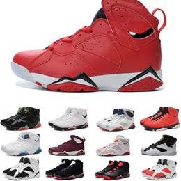Botas francesas online-Venta caliente J7 True Flight French Blue VII Men zapatos de baloncesto deporte bota
