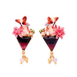 Wholesale Cute Earrings For Sale - Cute Chihuahua Earrings For Female Top Quality Brand Design Ear Stud S925 Jewelry Women's Wedding Earring Hot Sale