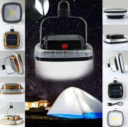 2019 linterna de camping gancho Nuevo Portátil 3W 300 Lúmenes COB LED Solar USB Recargable Camping Senderismo Carpa Luz Lámpara Linterna W / Hook linterna de camping gancho baratos