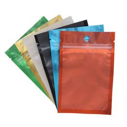 bolsas de mylar resealables Desconto 100 pçs / lote 2018 novo colorido Resealable Zip Mylar Saco de Sacos De Folha De Alumínio Olfato à Prova de Bolsas saco de Jóias de um lado claro LZ1890