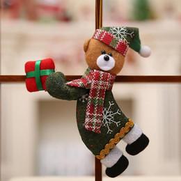 2019 bonecas de pano de natal Feliz Natal Enfeites De Presente De Papai Noel Boneca De Árvore De Pano De Brinquedo Boneca 18 * 10 CM Decorações De Natal Pendurar Enfeites De Natal bonecas de pano de natal barato