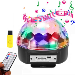Wholesale led spot club lights - BEIAIDI MP3 LED Stage Lamp For DJ Club Disco Party Voice Control LED Stage Laser Light RGB Xmas Spot Light With USB Disk+Remote