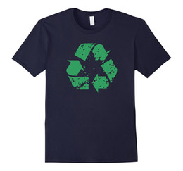 Wholesale Recycled Silk - Big Texas Distressed Recycle Symbol T-Shirt