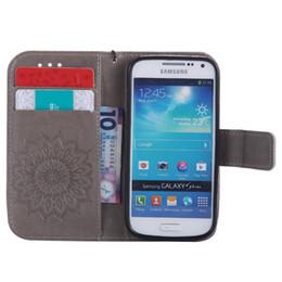 Галактика s4 мини-чехол телефона онлайн-Флип кожаные чехлы для Samsung Galaxy s3 9300 s4 S5 mini S6 edge plus S7 S8 note 8 Coque бумажник обложка стенд телефон случаях