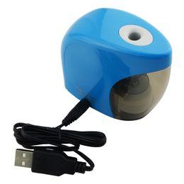 Электрические батареи онлайн-Sharpener Electric Pencil Sharpener USB & Batteries Auto Pencil Sacapuntas Material Escolar Aiguisoir Puntenslijper