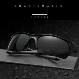 Мода мужская и женская универсальный поляризованные открытый спортивные очки Солнцезащитные очки UV400 пропускания видимого света 80% 5 видов цвета. от