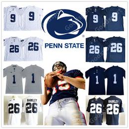 cadeaux de sport Promotion Université Penn State Nittany Lions COLLEGE 9 Trace McSorley 26 Saquon Barkley Maillot Sport Hommes Présent NOUVEAU Chemise STITCHED FOOTBALL Twill