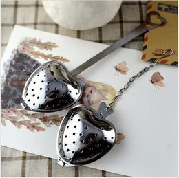 """Wholesale heart shaped tea - """"Tea Time"""" Heart Tea Infuser Heart-Shaped Bag Stainless Herbal Tea Infuser Spoon Filter with Best Quality and Price"""