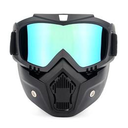 Gafas de ciclismo Gafas de motociclismo Protección UVA400 Gafas de esquí de invierno Gafas de equitación con máscara desmontable desde fabricantes